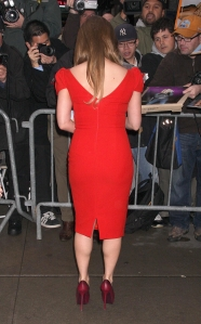 Jessica Simpson visits GMA in a red dress and heels