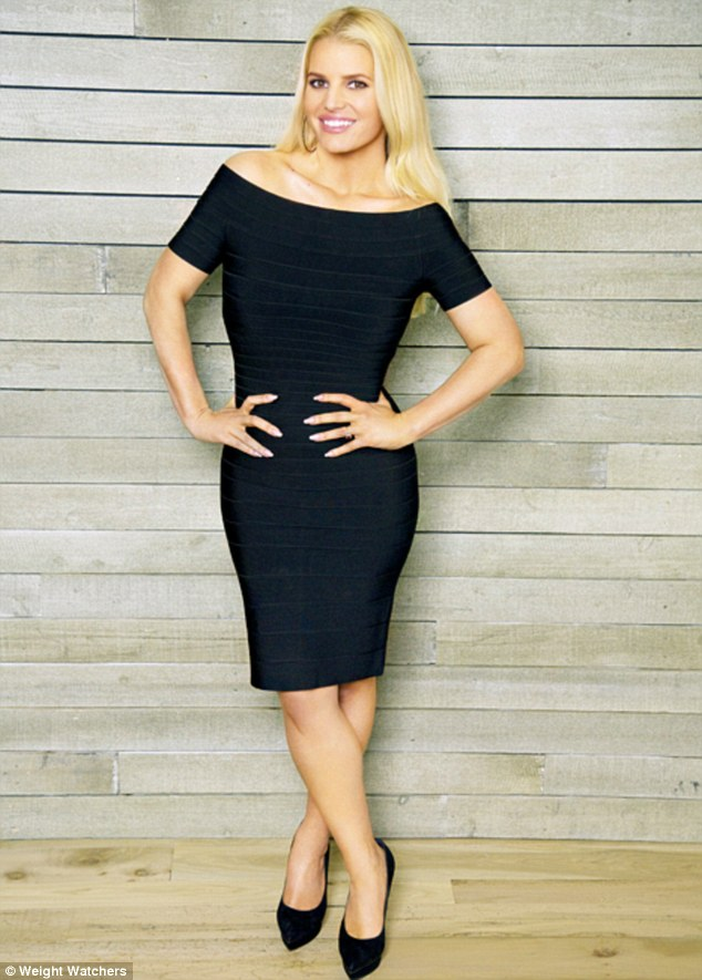 jessica simpson black bodycon